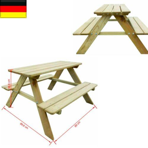 Garten Holz Imprägniert Kinder Picknicktisch Bank Sitzgruppe Gartengarnitur