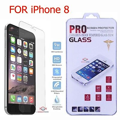 (For iPhone 8 Tempered GLASS Screen Protector Bubble Free HD Protective Film USA)