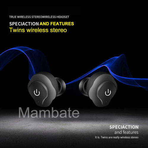 AGPtek Mini TWS Twins Wireless Bluetooth Stereo Headset In-Ear Earphones Earbuds