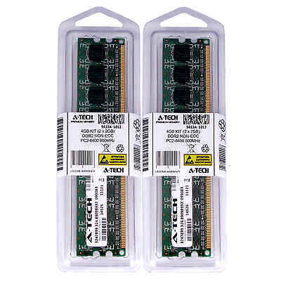 Atech 4GB Kit Lot 2x 2GB PC2-6400 6400 DDR2 DDR-2 800mhz 800 Desktop Memory RAM segunda mano  Embacar hacia Argentina