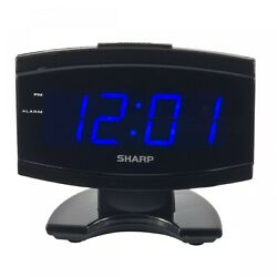 NEW Sharp Blue LED Large Display Digital Electric Alarm Clock Timer Snooze