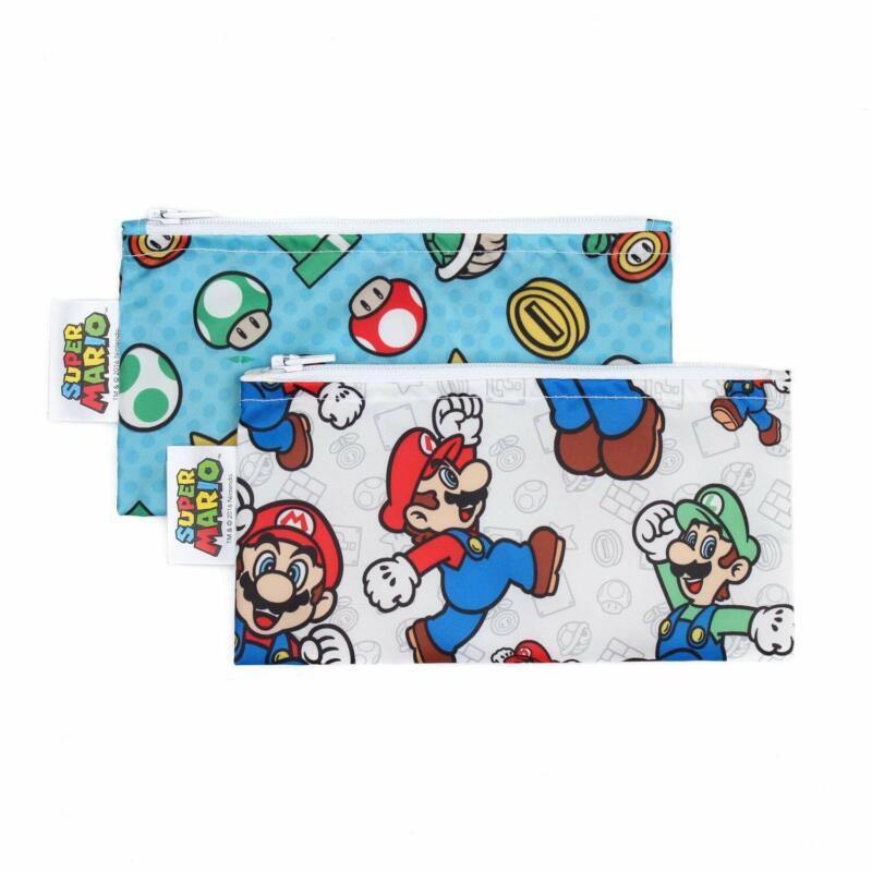 Bumkins Snack Bag Small (2 Pack): Super Mario Set
