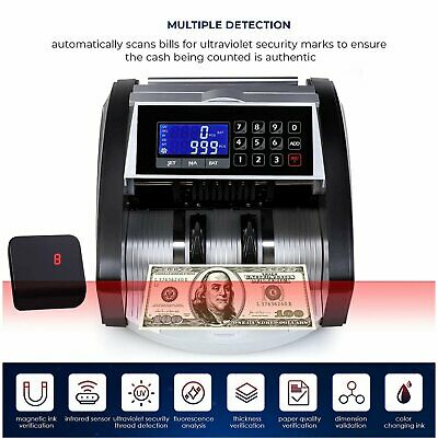 Money Counter Currency Cash Bill Counting Machine Uv Mg Ip Counterfeit Detection