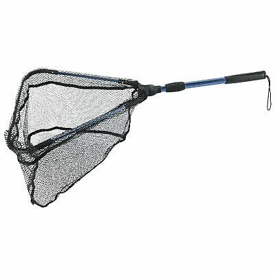 Foldable Fish Landing Net Nylon Mesh Telescopic Fish Net Extending Rod