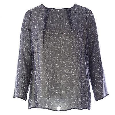 MARINA RINALDI Women/'s Red Febbraio Conceal Button Silk Blouse $725 NWT