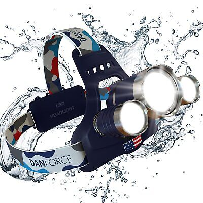 NEWEST And BEST Version Headlamp, Brightest Head Lamp Provide 1080 Lumens with