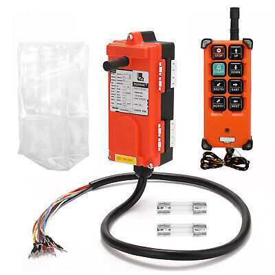 Wireless Crane Industrial Remote Control Transmitter Receiver Hoist Switch New