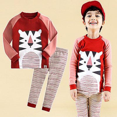 """Vaenait Baby Infant Toddler Kids Boys Clothes Pajama """"Tiger Friend"""" M(3T)"""