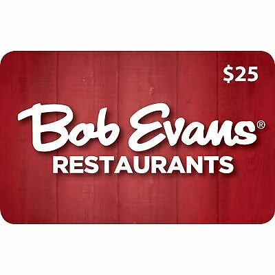$25 Bob Evans Gift Card - No Expiration Physical Plastic Card - Buy More & (Buy Physical Gift Cards)
