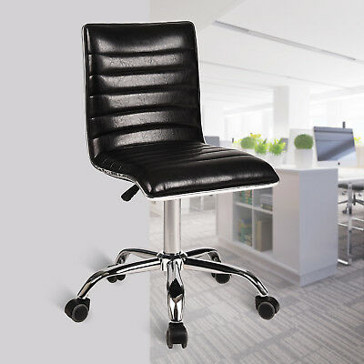 Office Chair Pu Leather Adjustable Height Swivel Ergonomic Desk Seat Computer