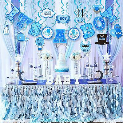 Hanging Decorations For Baby Shower (Baby Shower Decorations for Boy It's A BOY Party Hanging Banner Kit 10)