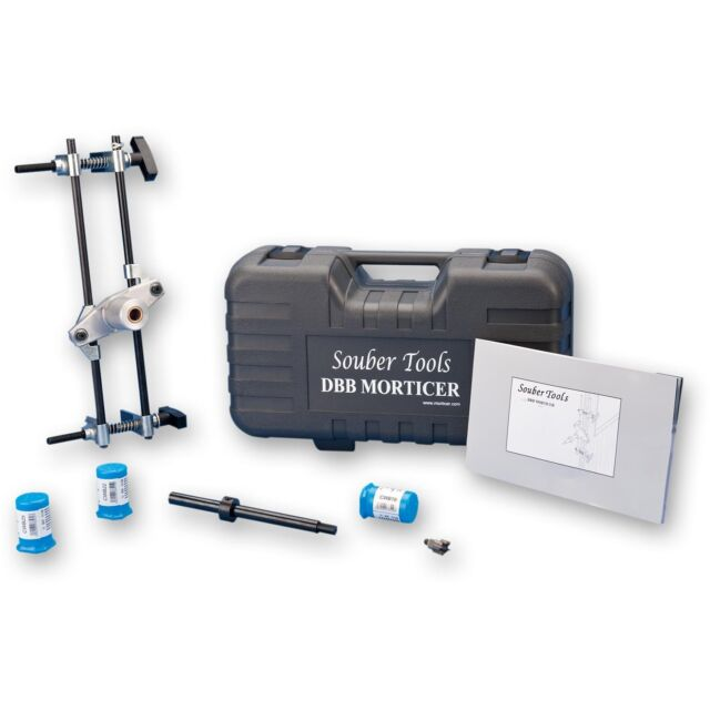 Souber Mortice Lock Fitting Jig DBB - JIG1 Door Lock Mortiser Kit With 3 Cutters