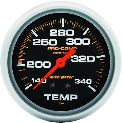 "AutoMeter 5435 Pro-Comp 2-5/8"" Liquid Filled Pressure Gauge 140-340 PSI Mech."