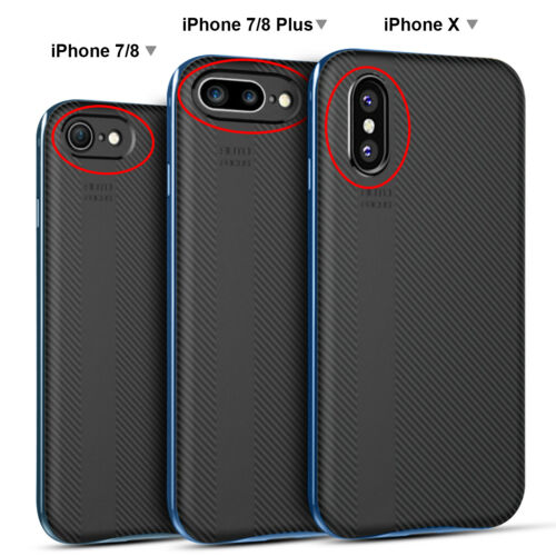 Luxury Shockproof 360 Silicone Protective Clear Case Cover For iPhone X 8 7 Plus