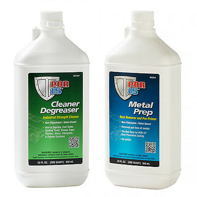 Por 15 40104   40204 Metal Prep   Cleaner Degreaser Treatment Kit  1 Qt Of Each