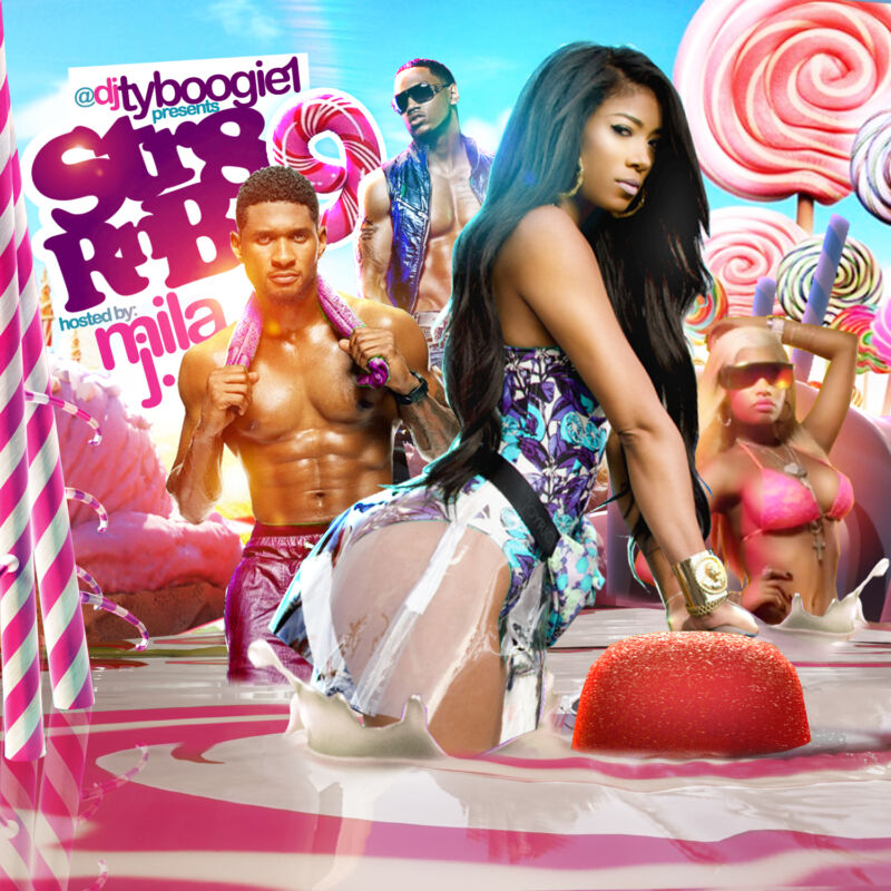 Dj Ty Boogie - Str8 Rnb 9 Hosted By Mila J (mix Cd) New! R&b, Hip-hop And Blends