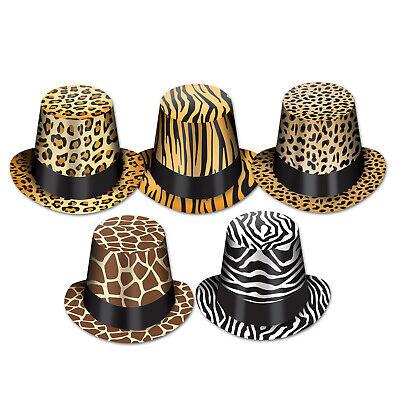 (25) Animal Print Hi-Hats asstd designs one size fits most