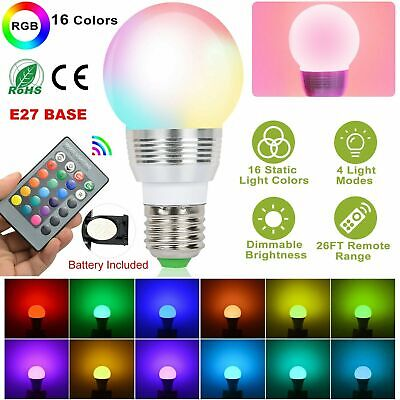 16 Color Changing Magic Light E27 3W RGB LED Lamp Bulb + Wireless Remote Control Color Changing Led Bulb