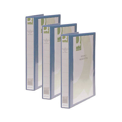 Pack of 6 Blue A4 Presentation 4D Ring Ringbinder Document Storage Folders 25mm