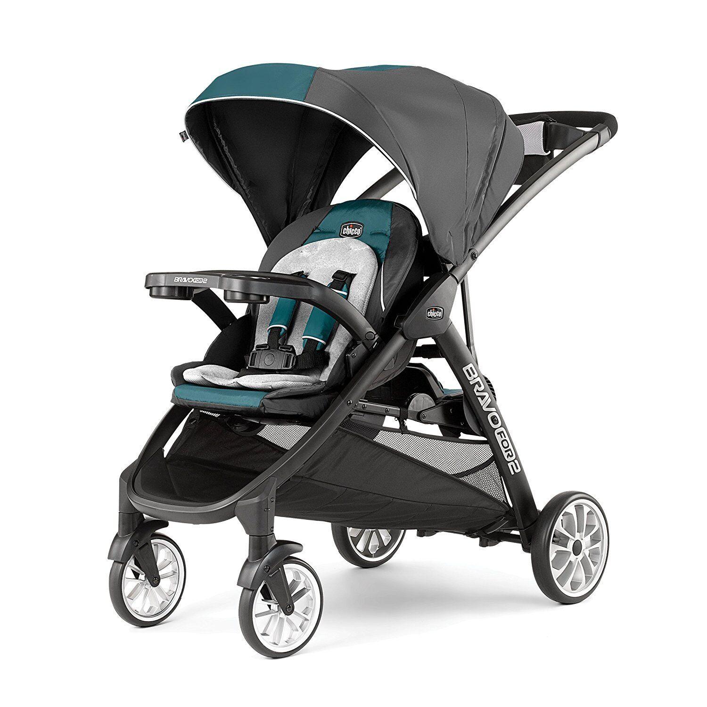Chicco BravoFor2 LE Double Stroller, Eucalyptus