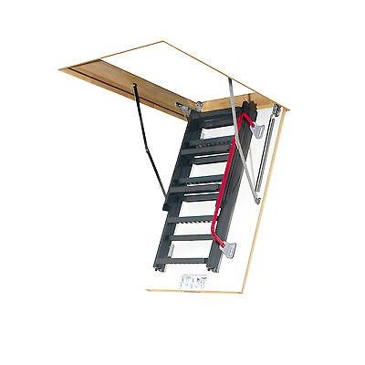 Bodentreppe LMK / Dachbodentreppe mit Metallleiter und Handlauf / Viele Größen!