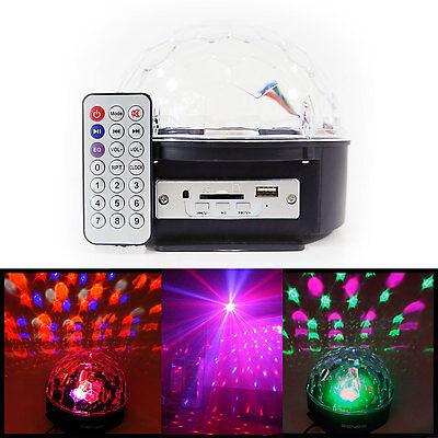 DJ Club Disco 12W Party Bar RGB Crystal LED Ball Projector Stage Effect Light US