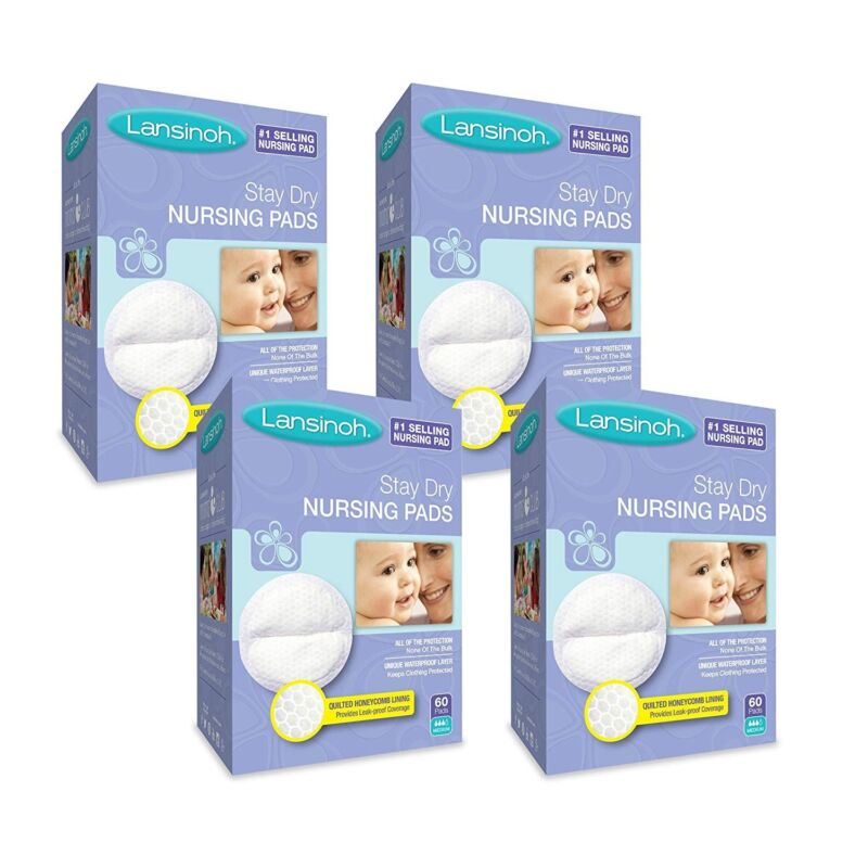 Lansinoh Nursing Pads, 4 Packs of 60 (240 count)