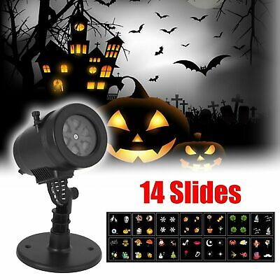 Mini Projector Christmas Light 14 Slides Halloween Lights Stage Party Laser 6J