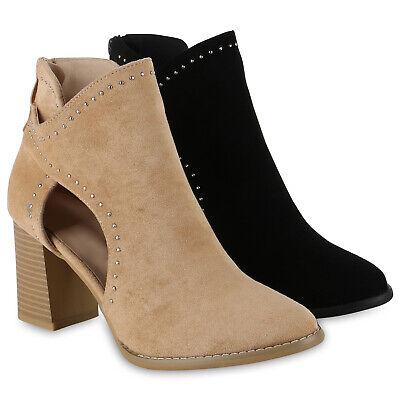 Wildleder Ankle Boot Bootie (Damen Stiefeletten Ankle Boots Wildleder-Optik High Heel Booties 826101 Schuhe)