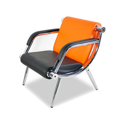 Orange PU Leather Office Reception Chair Waiting Room Visitor Guest Sofa Seat for sale  Atlanta