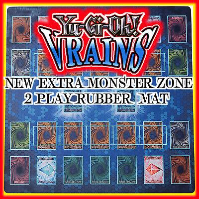 TCG Yugioh VRAINS  New Expert Rules Custom Rubber Playmat Link Extra monster