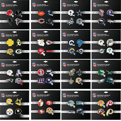 4 pin set franchise timeline collectible throwback NFL PICK YOUR TEAM PSG Nfl Collectible Pins