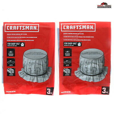 Cloth Bags Wholesale (6 Craftsman Shop Vac Filters Dry Cloth Bags ~ New)