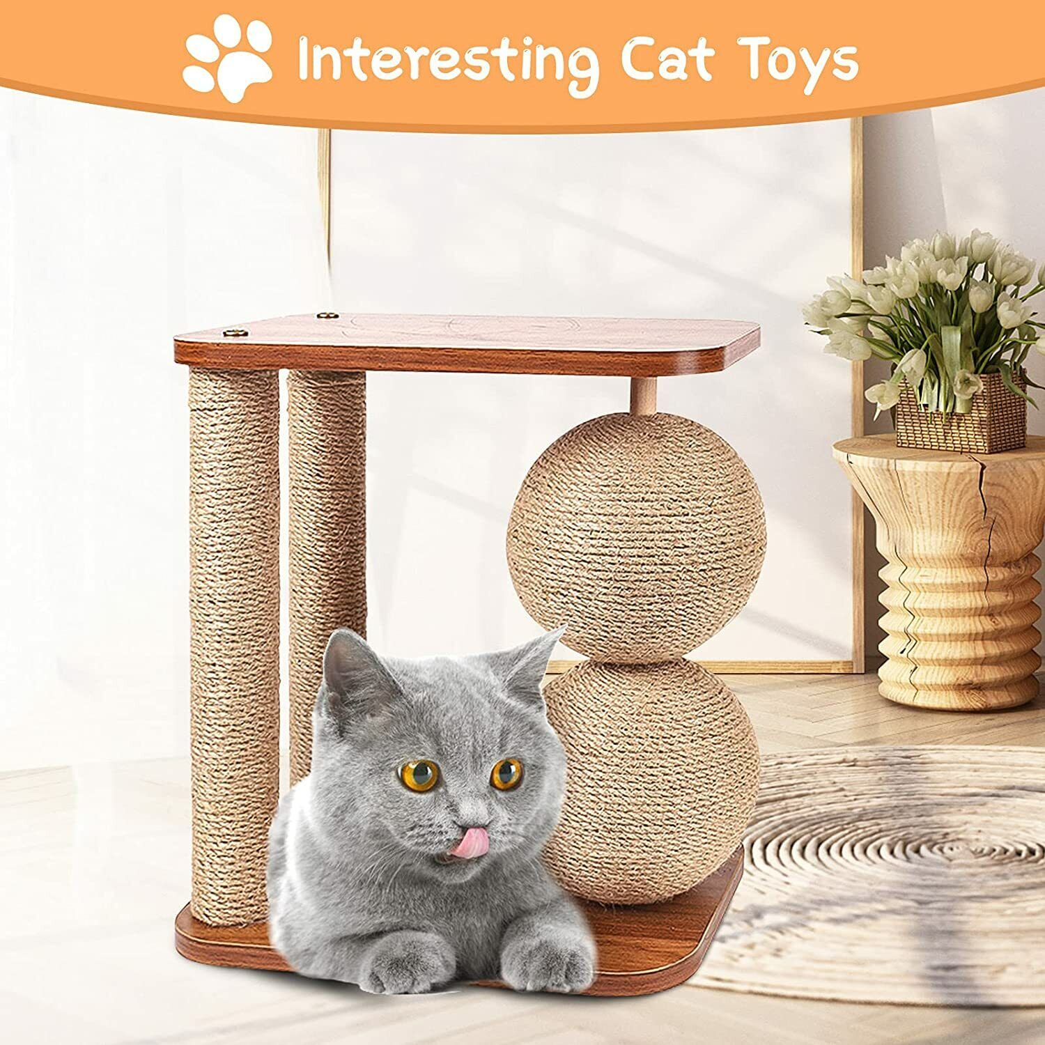 Cat Scratcher Toy, Durable Cat Scratching Post With Rotatable Scratcher  - $39.95