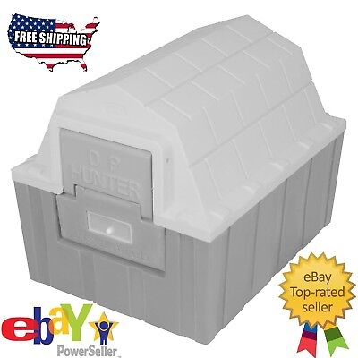 Gray ASL Insulated DP Hunter Dog House Indoor Outdoor For Small Dog Cat Pet