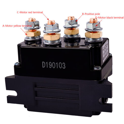Universal 12V 500A Solenoid Relay Contactor Winch Rocker Switch Thumb Truck ATV