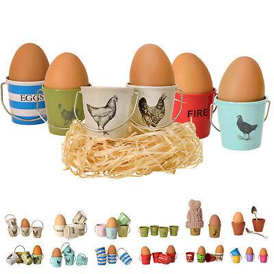 er Eierbecher 4er/2er Sets Geschirr Metall Frühstück Hühner (Große Eimer)