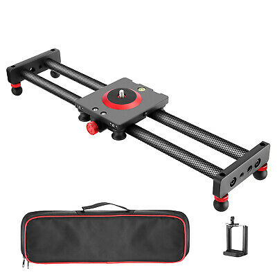 Neewer Camera Slider Carbon Fiber Dolly Rail, 19.7 inches with 4 Bearings 12lbs
