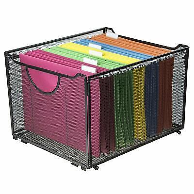 Black Metal Mesh File Boxfoldable Storage Cratehome Office Folder Holder