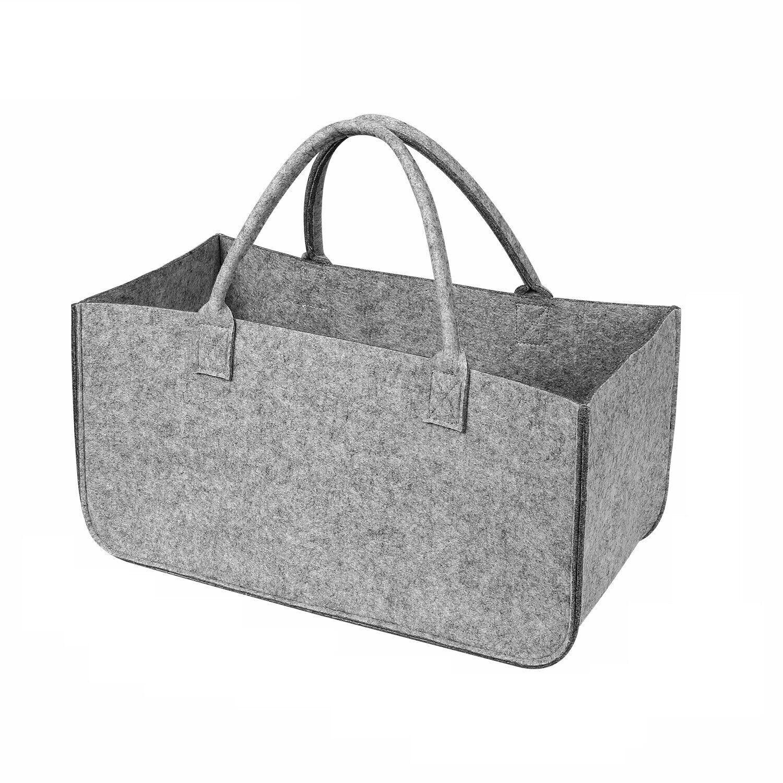 Filztasche Kaminholz Tasche für Holz Zeitungs Korb Shopper Tragetasche