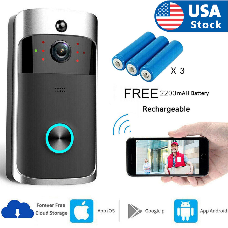 Wireless WiFi Video Doorbell Smart Phone Door Ring Intercom Security Camera Bell Building & Hardware