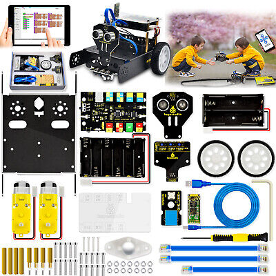 Keyestudio Metal Coding Robot Robotics Car Starter Kit Set For Arduino Toys Kids