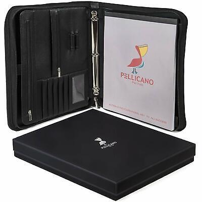 Leather Portfolio Padfolio Organizer College Business Planner Notebook Executive