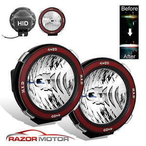 pair universal 7 inches built-in 6000k hid 4x4 offroad fog lights for suv/