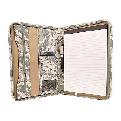 Deluxe Digital CAMO Zippered Padfolio Organizer Notepad w Document and ID - Document Organizer Deluxe