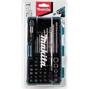 Makita 48 Piece Metric High Speed Steel Drill Bit Screw Nut Driver Set + Case