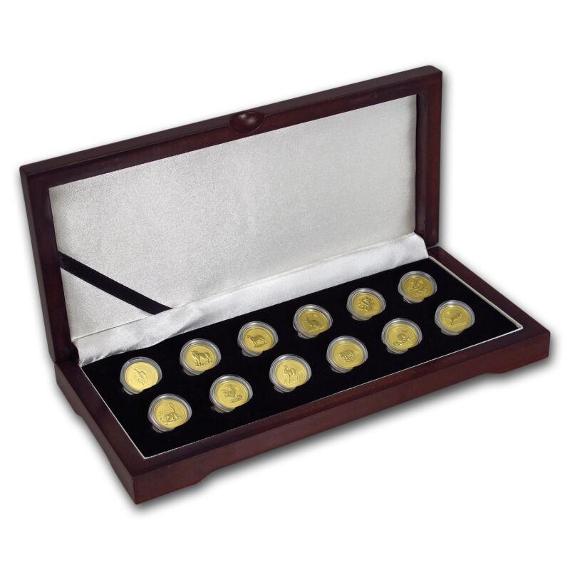 1996-2007 12-coin 1/10 Oz Gold Lunar Mint Set Bu (series I) - Sku#56722