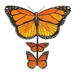 Laughing Moon Monarch Butterflies Pendulum Clock Wall Clock, 13 x 13