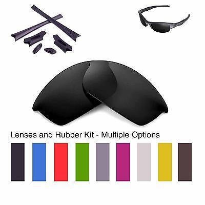 Walleva Lenses and Rubber Kit for Oakley Flak Jacket - Multiple Options