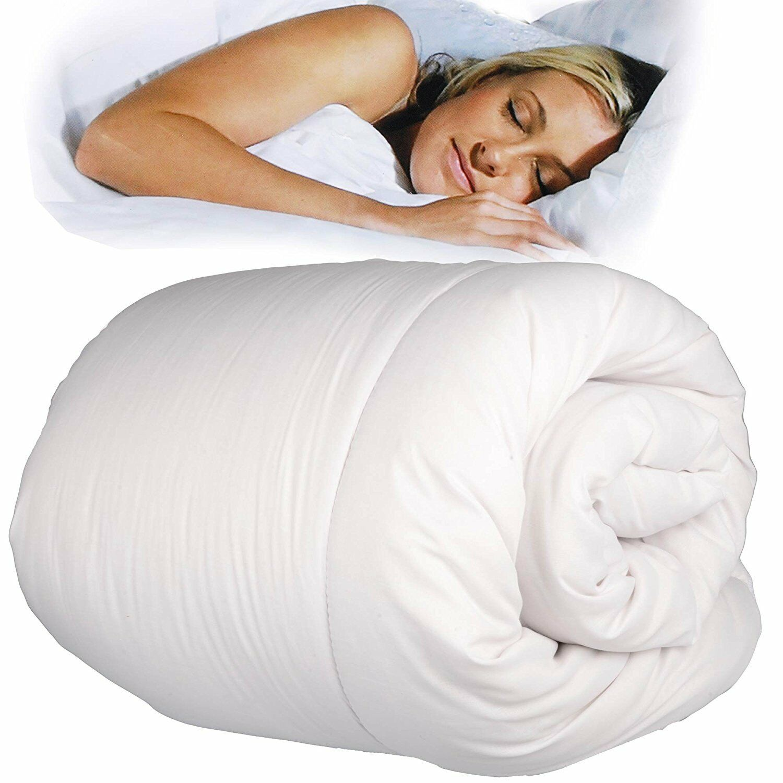 Piumino Matrimoniale Invernale Caldo Piumone Soffice 13.5 Tog Double Face Bianco